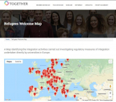 Refugees Welcome Map